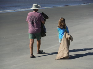Dad and daughter on a mission (Eric and Charlotte)